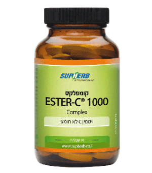 סופהרב ויטמין C לא חומצי 90 טבליות SupHerb Ester-C 1000mg